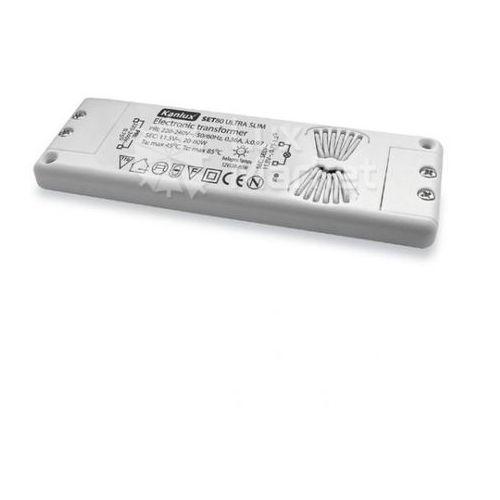 Kanlux - Transformator elektroniczny SET80 Ultra Slim 12V 20-80W - 01436 - Autoryzowany partner KANLUX. 10 lat