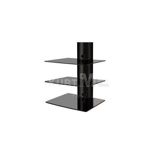 Art ART Półka D-51 30KG do DVD/TUNER aluminiowa czarna z kat. półki rtv