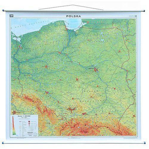 Polska mapa ścienna fizyczna 1: 500 000 , produkt marki Nowa Era