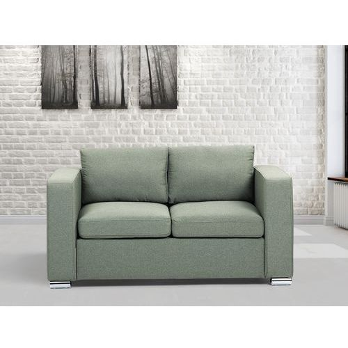 Sofa oliwkowa - dwuosobowa - kanapa - sofa tapicerowana - HELSINKI, Beliani