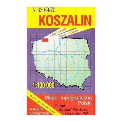 N-33-69/70 Koszalin. Mapa topograficzno-turystyczna 1:100 000 wyd. WZ-Kart, produkt marki Wojskowe Zakłady Kartograficzne