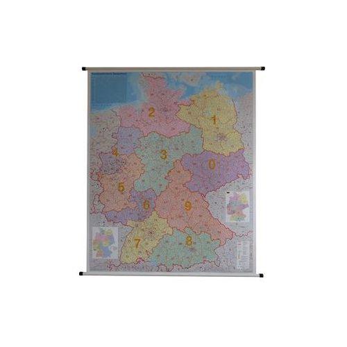 Niemcy mapa ścienna kody pocztowe 1:750 000 , produkt marki Stiefel
