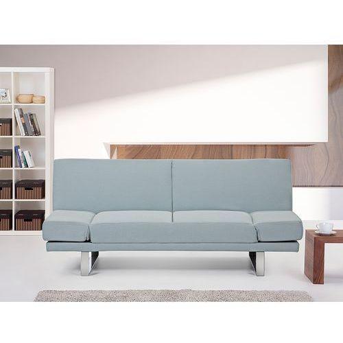 Rozkladana sofa ruchome podlokietniki - YORK jasny niebieski, Beliani