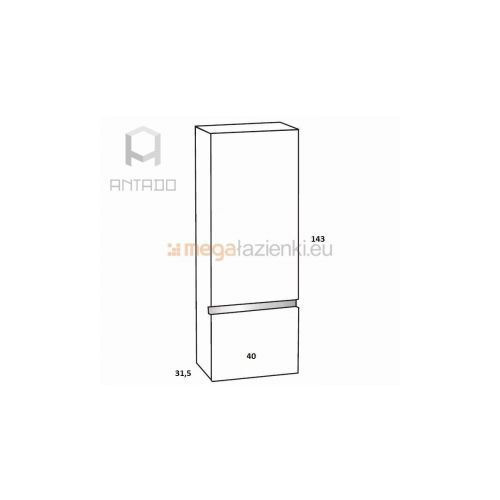 Antado Cantare FSM-392 regał wysoki prawy biały połysk - produkt z kategorii- regały łazienkowe