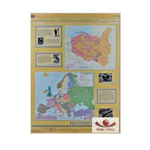 Polska i Europa po II wojnie Światowej / Rozpad systemu komunistycznego. Mapa ścienna, produkt marki Nowa Era