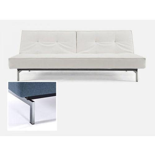 Sofa Splitback biała 588 nogi chromowane  741010588-741010-0-2, INNOVATION iStyle