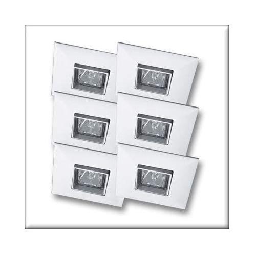Paulmann Wysokogat. Oprawy wbudowywane Quadro, wychylne, białe, 6x35W ( P99518 ) z kategorii oświetlenie