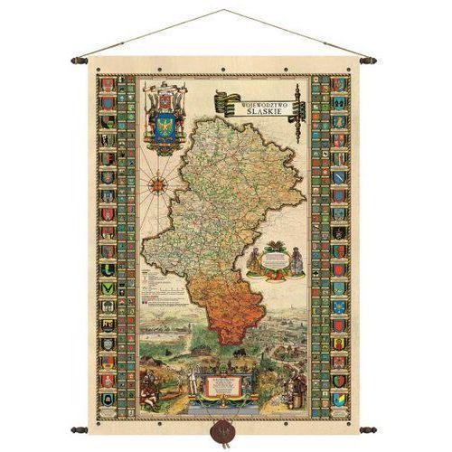 Województwo śląskie mapa ścienna 68,5x98,5 cm , produkt marki Pergamena