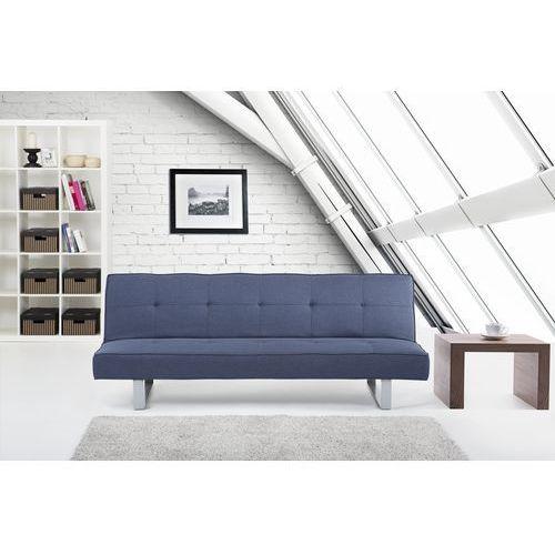 Luksusowa sofa kanapa DERBY ciemnoniebieska, Beliani