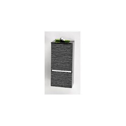 Szafka Antado FSM słupek 89 cm czarna w srebrne paski prawa FSM-394GTR-48/44 - produkt z kategorii- regały �