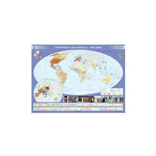 Produkt Pontyfikat Jana Pawła II 1978-2005 / Papież Jan Paweł II w Polsce. Mapa ścienna, marki Nowa Era