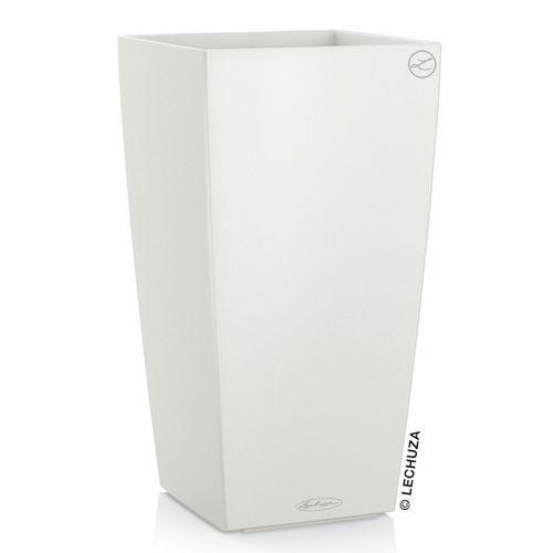 Donica Lechuza Cubico Color biała, produkt marki Produkty marki Lechuza