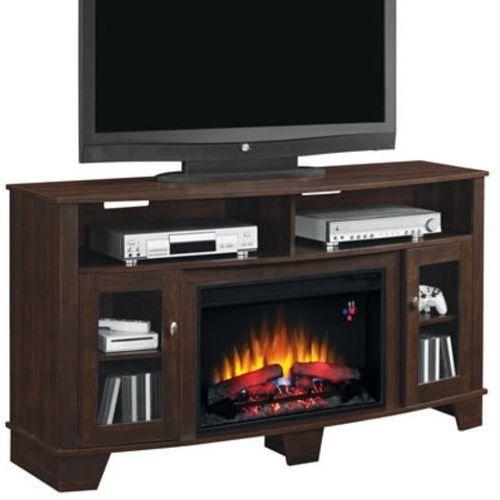 82839532 Kominek elektryczny z szafką RTV Classic Flame La Salle (kolor: wiśnia) - oferta [9569d6a85fd313f1]