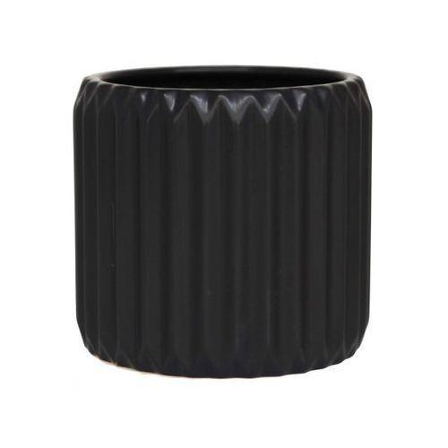 Doniczka Gabriella czarna średnia  1491-24, produkt marki Ib Laursen