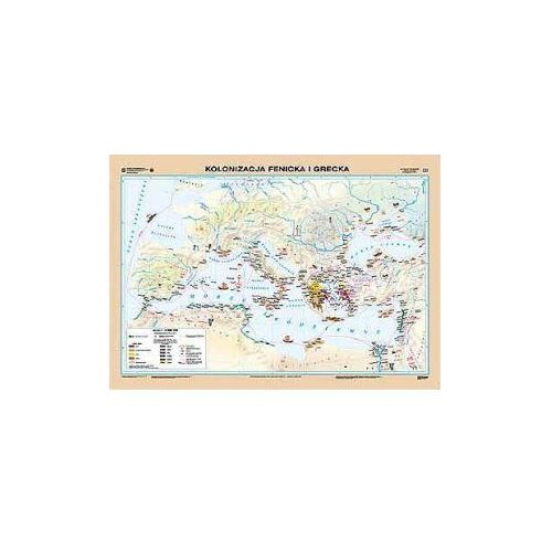 Kolonizacja fenicka i grecka / Grecja w okresie kolonizacji. Mapa ścienna, produkt marki Nowa Era
