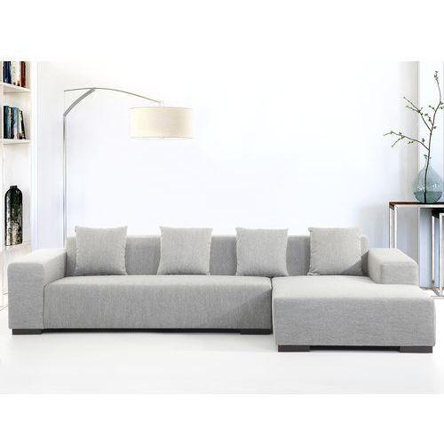 Sofa szara - sofa narozna L - tapicerowana - LUNGO, Beliani