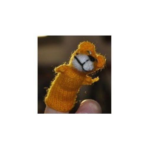Pacynka, laleczka wełniana na palec - tygrysek (pacynka, kukiełka)