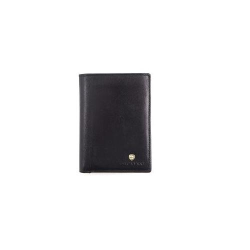 030d95b6d1dd7 Czarny męski portfel skórzany Peterson 317-2-1-1