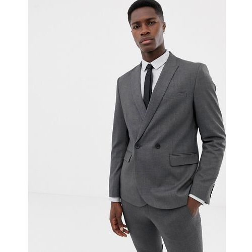 11e253e59b1b1 Only & Sons double breasted suit jacket - Grey