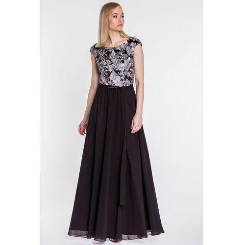 f0bd52a317 Długa sukienka z paskiem - Studio Mody Francoise